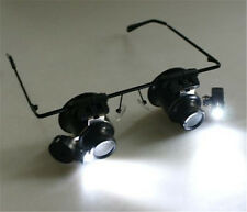20x Magnifying Eye Magnifier Glasses Loupe Lens Jeweler Watch Repair LED Light P