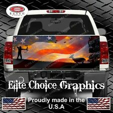American Bow Hunter Sunset  Truck Tailgate Wrap Vinyl Graphic Decal Sticker Wrap