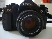 Canon A1 con 50mm 1,8 Flash Speedlight 199 A  e Data Back A