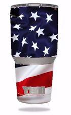 NEW Skin Decal Wrap 4 YETI 30 oz Rambler Tumbler cover sticker american flag