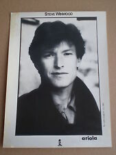 STEVE WINWOOD Prom0 Press Photo 1982 Island FOTO DE PRENSA Traffic