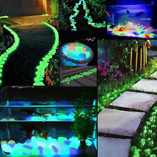 100g Pebbles Stones Glow in the Dark Home Garden Walkway Aquarium Fish Tank Hot