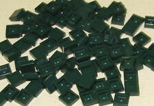 LEGO LOT OF 100 NEW DARK GREEN 1 X 1 FLAT SMOOTH TILES PIECES