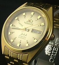NEW Orient gold tone brown Day Date Men's Automatic Watch  Orient Box Warranty