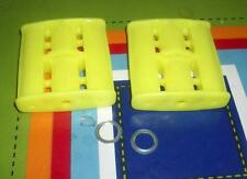 "NOS Vintage Canary Yellow Plastic Tricycle Pedal Car Pedals w/ 7/16"" Pedal Holes"