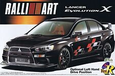 Aoshima 47842 1/24 Mitsubishi LANCER EVOLUTION X RALLIART Ver. Rare from Japan
