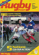 RUGBY POST Mar 1985 ENGLAND MAGAZINE