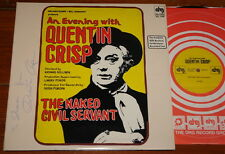QUENTIN CRISP ~ AN EVENING WITH THE NAKED CIVIL SERVANT ~ HAND SIGNED USA 2X LP