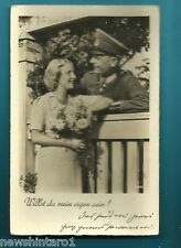 #H149. WWII  POSTCARD OF GERMAN SOLDIER AND LADY