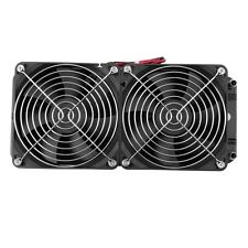 Aluminum 80mm Water Cooling cooled Row Heat Exchanger Radiator+Fan for CPU PC OV