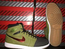 NEW: AIR JORDAN 1 RETRO HIGH NOUV SZ 11.5 GREEN/HYPER ORANGE-BLACK #819176-306
