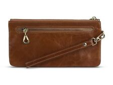 Zip Genuine Leather Clutch Wallet Wristlet iPhone Purse Ladies New Womens LYNE