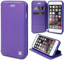 PURPLE INFOLIO WRIST STRAP LANYARD WALLET CREDIT CARD ID CASE FOR iPHONE 6 PLUS