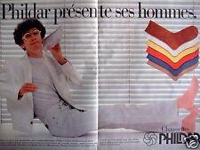 PUBLICITÉ 1981 PHILDAR PRÉSENTE SES HOMMES - CHAUSSETES - ADVERTISING