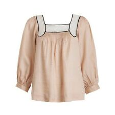 3.1 PHILLIP LIM SILK LONG SLEEVE TOP SIZE US 4 UK 8 S SMALL