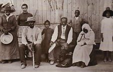 Harriet Tubman with Freed Slaves on the Underground Railroad, History - Postcard
