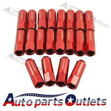20PC JDMSPEED RED12X1.25MM 60MM EXTENDED FORGED ALUMINUM TUNER RACING LUG NUT