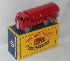 50s.MOKO.matchbox.LESNEY.11 b,Large ESSO,Gas petrol.tanker,Gray Plastic wheel.MB