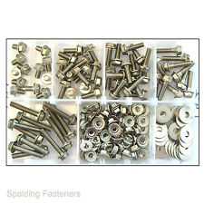 Assorted A2 Stainless Steel M6 Hexagon Flange Bolts+ Flange Nuts+ Repair Washers