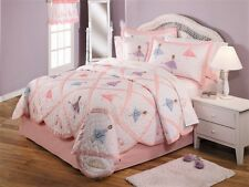 Ballet Recital Ballerina Girls Bedding Quilt Sham Deco Pillow Sheet Set Twin 6PC