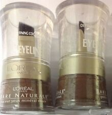 2 X L'Oreal Bare Naturale Gentle Mineral Eyeliner Defining Cocoa # 807 NEW.