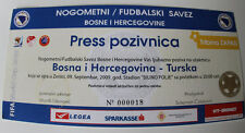 old TICKET World Cup 2010 q * Bosnia Herzegovina - Turkey in Zenica