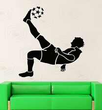 Wall Stickers Vinyl Decal FIFA Soccer Ball Player Sport Decor for Room (ig1012)