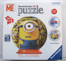 DESPICABLE ME MINION 3D PUZZLEBALL PUZZLE BALL - 72 PIECES - BRAND NEW & SEALED!