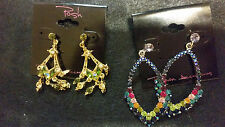 "2 Pairs of ""Posh"" brand ear rings, new old stock, extreme value, very nice"
