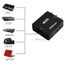 Mini 1080P HDMI to AV 3 RCA Composite CVBS S-Video Converter Adapter For HDTV TL