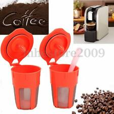 2 Refillable Reusable Coffee Filters K-Carafe +1 Plactic Spoon For Keurig 2.0