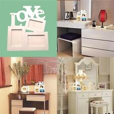 Photo Frame Set DIY Love Home Decor Wooden Picture Durable Hollow Sweet New SO3