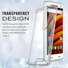 Crystal Clear TPU PC Back Panel Bumper Cover for Moto Droid Turbo 2 / X Force