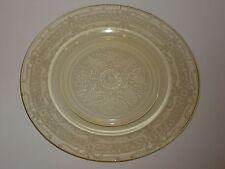 "Vintage MacBeth-Evans S-Pattern Amber Depression Glass Plate, 9-1/4"""
