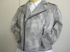 Hilary Duff FEMME for DKNY DENIM MOTORCYCLE JACKET SIZE L AWESOME MUST HAVE