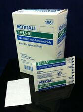 """Box Of 100 KENDALL TELFA """"Ouchless"""" Non-Adherent Pads 2"""" X 3"""" REF 1961 Dressing"""
