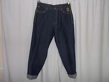 "RED APE JEANS COTTON BLEND SOLID BLUE DARK WASH SIZE 38 WAIST 38"" INSEAM 34"""