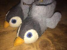 BNWT Felt Handmade Boys/girls Penguin Christmas Slippers Age 0-1 Baby Size 3