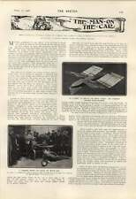1906 The Cochrane Dirigible Flying Machine Buffer Brake For Motorcars