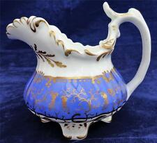 Antique Grainger Worcester Porcelain Jug Creamer Gloucester Shape Blue c 1835