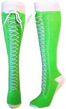 Sneaker Converse Lime (KH065) Novelty Shoe Knee High With Shoe Lace New Gift Fun