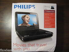 "PHILIPS PET741 PET741B PET741B/37 7"" LCD Widescreen Portable Car DVD Player NEW"