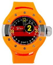 New Orange Oversized Luxury Mens Geneva Metal Watch Fashion Designer