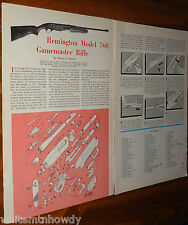 1961 Remington Model 760 Gamemaster Rifle Exploded View..Parts List..Article