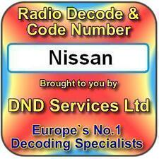 Nissan Radio código decodificar desbloquear por número de serie