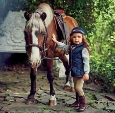 NWT Janie & Jack RIDING LESSON 12 18 M Quilted Vest Pants Hat Equestrian Outfit