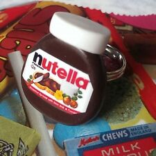 Unique NUTELLA RING  mixed up dolly DESIGNER fab! CHOCOLATE SPREAD  adjustable