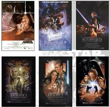 Star Wars Movie Poster Set of 6 Posters Each Episode 27x40 inch