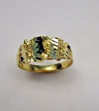 Men's Solid 10K Yellow Gold Nugget Design Ring Size10 (#3)