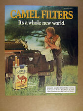 1986 camel cigarettes Land Rover series truck man photo vintage print Ad